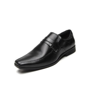 Sapato Social Couro Ferracini Liso Preto Ferracini 4068-281G masculino