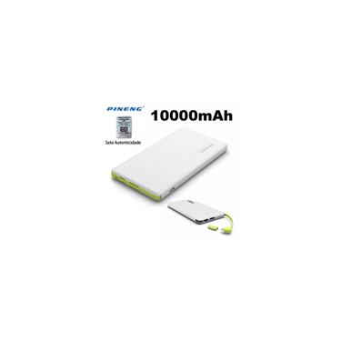 Bateria Externa Portátil Power Bank Para Celular, Tablet, Caixa de Som, iPhone, Motorola, Samsung Android iOS Pineng PN-951 - 10.000mAh (branco)