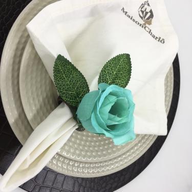 Porta Guardanapo Botão de Rosa Tiffany - 4 unidades