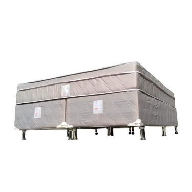 87a988f50 Cama Box+Colchão Casal Queen Size Molejo Ultracoil Newsonno 158x198x67