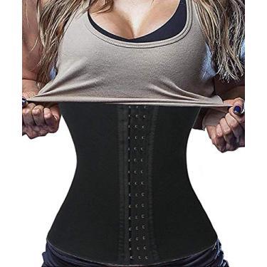 Cinta Modeladora Fitness Redutora Neoprene Academia (Preto, 46)