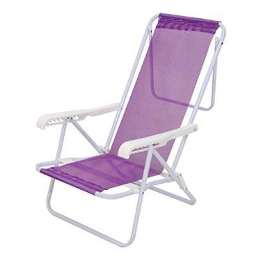Cadeira Reclinável Aço 8 Posições Lilás Mor