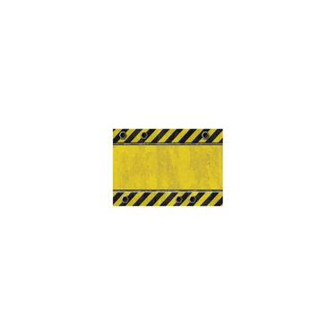Imagem de Toalha de mesa de impressão colorida à prova d 'água Zebra Crossing amarelo-preto 137 * 183