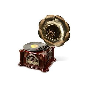 Gramophone Texas - 5 Watts, c/ USB, MP3, CD, Rádio e Vinil - Ribeiro e Pavani