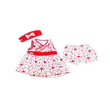 Conjunto Vestido, Tiara e Shorts de Bolinhas do Internacional, Rêve D'or Sport, Bebê Menina, Branco/Vermelho, M