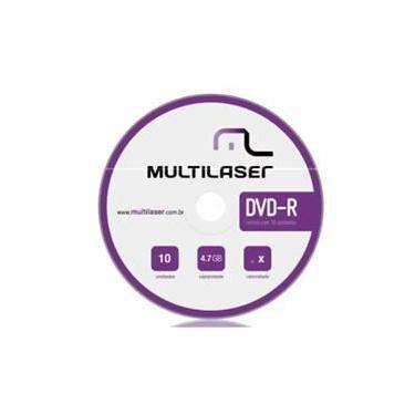 Mídia Dvd-r Vel. 16x 10 Unidades Shrink Dv038