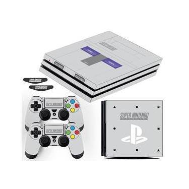Adesivo Skin Playstation 4 Pro Super Nintendo Edition