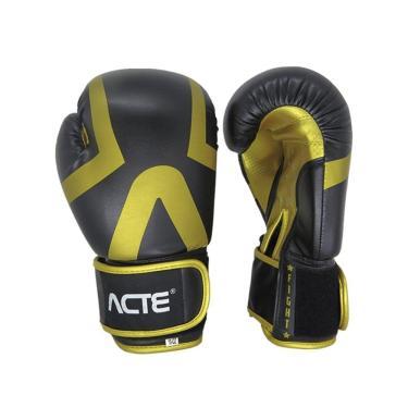 Luva Boxe Acte Sports Premium P13, Cor: Preto/Dourado, Tamanho: 14