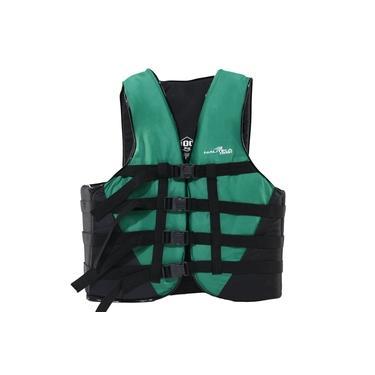 Colete Salva Vidas Nautika Coast Até 110kg Verde e Preto