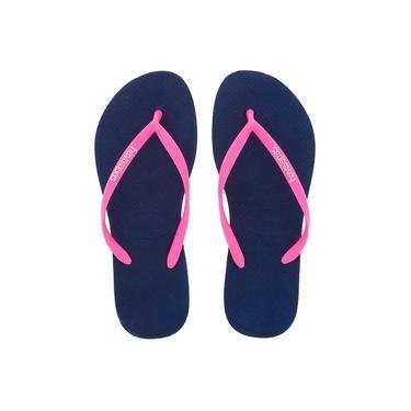 Chinelo Havaianas Slim Pop Up Azul Marinho 33/34