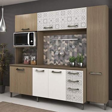 8e4f0a74496 Cozinha Completa Sense E780-NTBA 3V Nature Branco Azulejo - Kappesberg