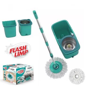 MOP PRO Flash Limp Esfregão Giratorio Centrifuga Spin 360 Balde Inox MOP7824