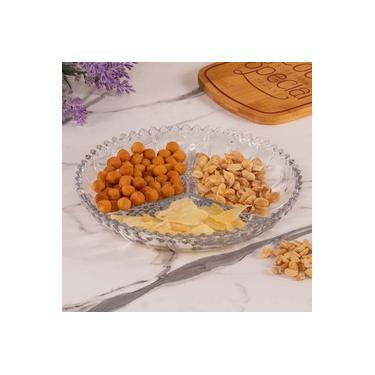 Imagem de Petisqueira Prato Para Petisco com 3 Divisórias 24,6cm