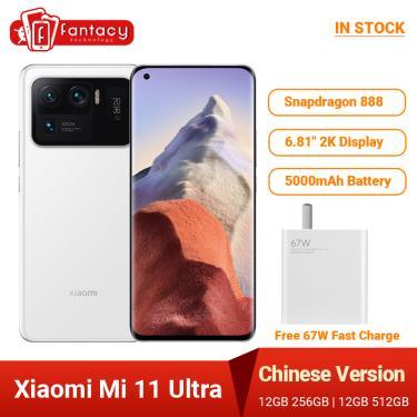 Imagem de Versão chinesa xiaomi mi 11 ultra smartphone 12gb ram 256gb rom snapdragon 888 octa núcleo 50mp