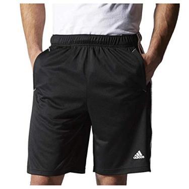 Bermuda Adidas Essentials Preto+Branco Masculino P