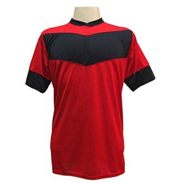 Imagem de Jogo de Camisa com 18 unidades modelo Columbus Vermelho/Preto +