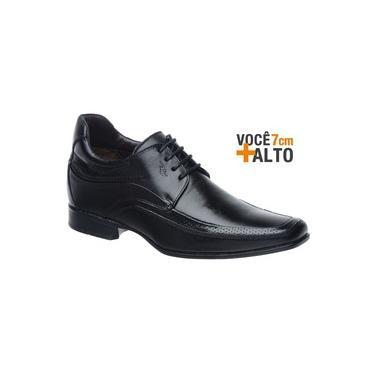 Sapato Rafarillo Linha Alth Você + Alto 7cm 3206 Preto com Cadarço