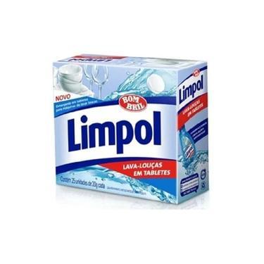 Kit 2 Detergente Máquina Lava Louças 25 Tabletes Limpol Cada