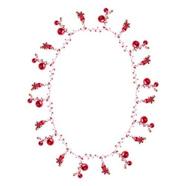 NUOBESTY Guirlanda de Natal Bola para pendurar na parede, guirlanda de corrente, árvore de Natal, ornamentos pendurados, enfeite de festa de Natal, lareira (vermelho)