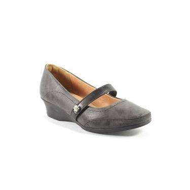 Sapato Feminino Tira Grafite Dmoon