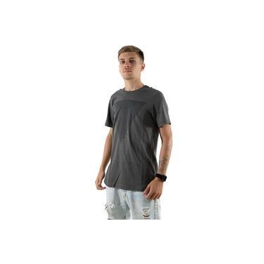 Camisa Rioutlet Masculina Estampa 3D T-shirt Cinza Chumbo Ref.234