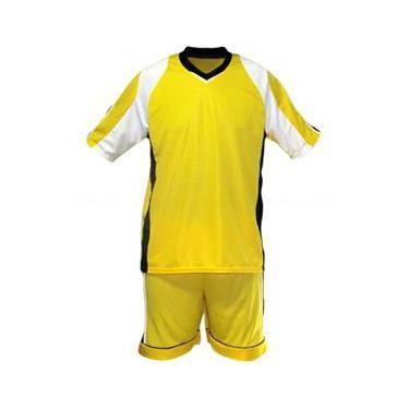 Uniforme Esportivo Texas 1 Camisa de Goleiro Florence + 10 Camisas Texas +10 Calções - Amarelo x Branco x Preto