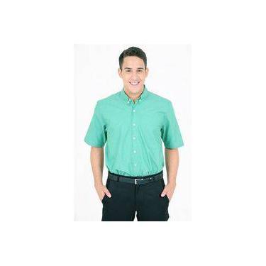 Camisa Social Manga Curta Verde 4359 f15960c836319