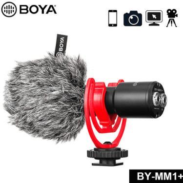 Microfone Shotgun Boya BY-MM1+ Supercardióide para Câmeras e Smartphones