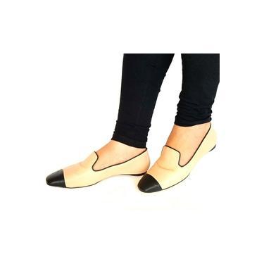 Sapatilha Loafer Feminina Bicolor em Couro Carrano 147112
