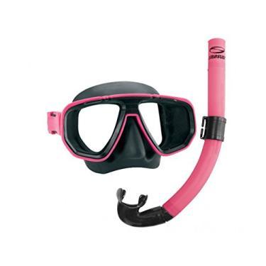 Kit Dua Seasub - Snorkel Sem Válvula - Rosa