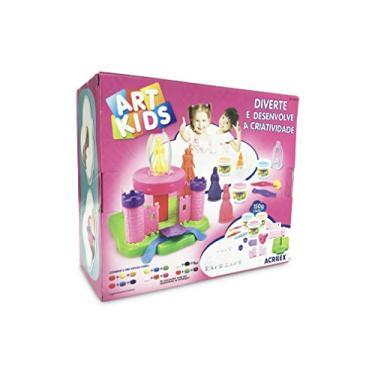 Imagem de Massa Modelar Acrilex Art kids Castelo das Princesas 450 g 40032