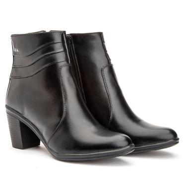 Bota Feminina Ankle Boots Coturninho Baixo Cano Curto Mod 2803