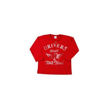 Camiseta Infantil Malhão Drivers Legacy - Vermelho