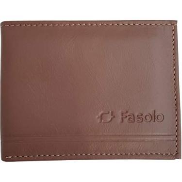 Fasolo, H054500080C, Carteira de Moeda Cartões Masculina Soft Plus, cor Terracota, Couro