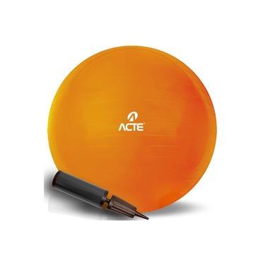 Bola De Pilates Suiça Gym Ball 45cm T9-45 Laranja Acte Sports Com Bomba De Ar