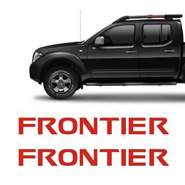 Imagem de Par De Adesivos Nissan Frontier 12/ Rack Longarina Vermelho