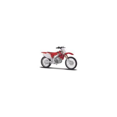 Imagem de Moto de Ferro Trilha Miniatura Honda CRF450R 1:12 na Caixa Maisto
