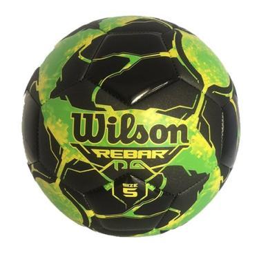 945fb348ad Bola Futebol No. 5 Rebar Wilson - Verde Preto