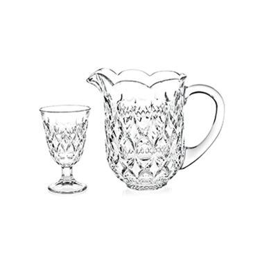 Imagem de Jogo de jarra com taças em cristal Lyor Lile 7 peças