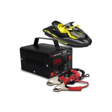Carregador Bateria Automotivo Para Jet Ski Shutt Bivolt 12v 5a 60w Com Voltímetro Digital