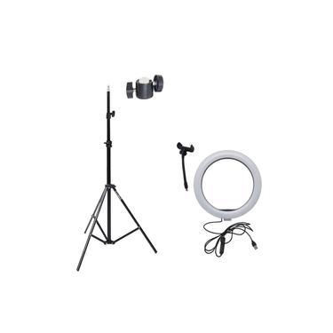 Ring Light 10 Com Tripé Grande E Suporte Para Celular Câmera