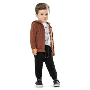 Conjunto Infantil Masculino Trick Nick Marrom 1