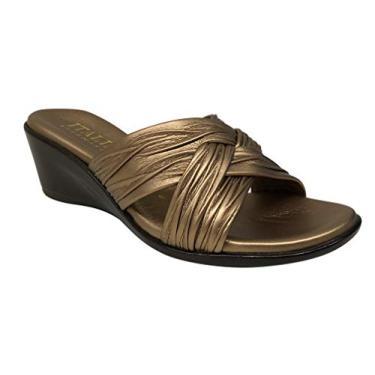 Imagem de Sandália anabela feminina Saylor Shoemakers da Itália, Bronze, 9