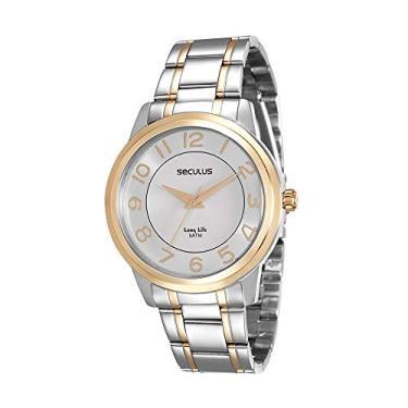 9cebfd2066a Relógio Seculus Feminino Analógico Prata com dourado 20424LPSVBA2