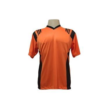 Imagem de Jogo de Camisa com 20 unidades modelo Roma Laranja/Preto +