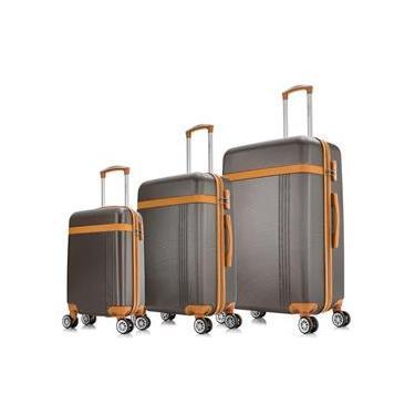 Conjunto malas de viagem Marrom PMG Bruges Swiss Move