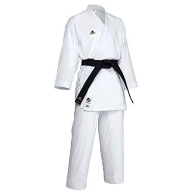 Kimono Karate Adidas AdiLight Branco Logo Preto Emborrachado (180)