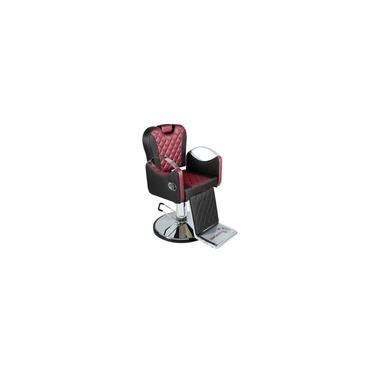 Imagem de Poltrona Cadeira De Cabeleireiro Barbeiro Reclinável Urano, Barbearia - PRETO FACTO COM BORDO