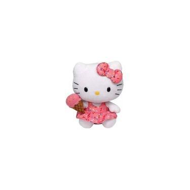 Imagem de Pelúcia Hello Kitty Sorvete Beanie Babies 16Cm