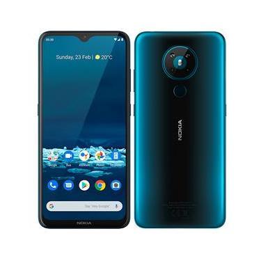 """Smartphone Nokia 5.3 Verde 128GB, Dual SIM, 4GB RAM, Tela 6,55"""", Câmera Quádrupla e Processador Octa Core"""